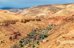 Landscape of the Asif Ounila valley in the High Atlas Mountains, Morocco Stock Photo