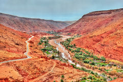 Landscape of the Asif Ounila valley in the High Atlas Mountains, Morocco Stock Images