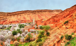 Landscape of the Asif Ounila valley in the High Atlas Mountains, Morocco Stock Photos