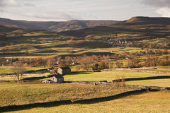 Landscape from Askrigg to Pen-y-Ghent  Royalty Free Stock Photo