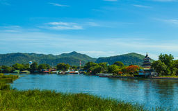 Landscape At The River Kwai, Royalty Free Stock Photography