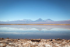 Landscape of Atacama Desert in Chile. Winter time. Royalty Free Stock Image