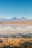Landscape of Atacama Desert in Chile. Winter time. Stock Photo