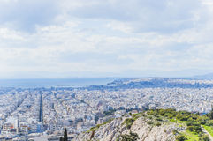Landscape of Athens Royalty Free Stock Photography
