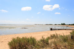 Landscape from the Atlantic coast from a French island. Royalty Free Stock Photo
