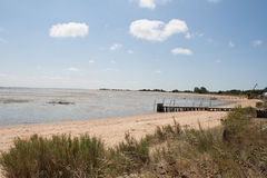 Landscape from the Atlantic coast from a French island. Royalty Free Stock Photography