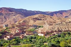 Landscape in the Atlas mountains in Morocco Africa Stock Image