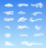 Landscape atmosphere fluffy white clouds blue sky Royalty Free Stock Photography