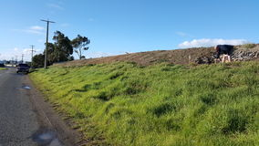 Landscape australia hill slope grass Stock Photo