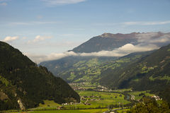 Landscape of Austrian Alps stock photography