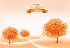 Landscape autumn background. royalty free illustration