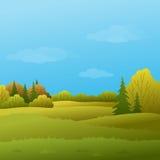 Landscape, autumn forest Stock Image