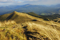 Landscape of autumn mountains, polonina carynska, bieszczady, poland stock photos