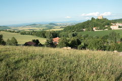 Landscape in Auvergne Stock Photography