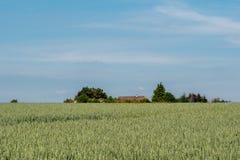 Landscape of Auvers-sur-Oise fields. Landscape of Auvers-sur-oise, France, where the painter Vincent Van Gogh lived his last days royalty free stock image