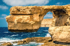Landscape at Azure Window, Malta. Azure Windo on Gozo island in Malta Royalty Free Stock Photos