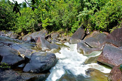 Landscape of Babinda Boulders in Queensland Australia Royalty Free Stock Image