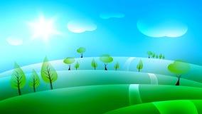 Landscape background illustration Stock Images