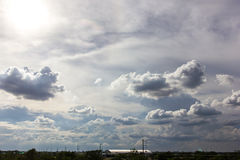 Landscape Backlit Clouds. Royalty Free Stock Photography