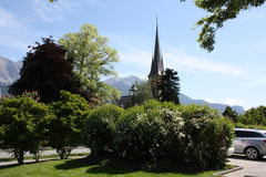 Landscape in Bad Ragaz. In Switzerland royalty free stock photos