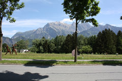 Landscape in Bad Ragaz. In Switzerland royalty free stock photo