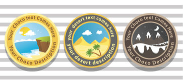 Landscape badge Royalty Free Stock Photography