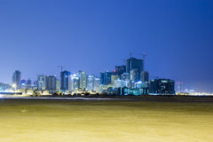 Landscape of Bahrain Night Time Royalty Free Stock Photo