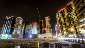 Landscape of Bahrain Night Time Stock Photography
