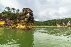 Landscape of Bako National Park, Malaysian Borneo Stock Photography