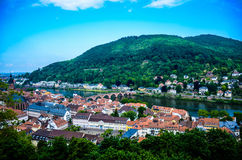 Landscape. On a balcony of the castle in Germany Royalty Free Stock Images