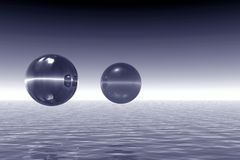 Landscape with balls Royalty Free Stock Photo