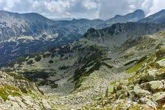Landscape from Banderitsa pass,  Pirin Mountain stock image
