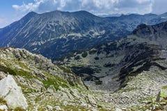 Landscape from Banderitsa pass,  Pirin Mountain stock photography