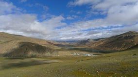 Landscape of Bangda valley on Tibetan Plateau.  Stock Photography