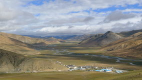 Landscape of Bangda valley on Tibetan Plateau Royalty Free Stock Photo
