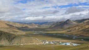 Landscape of Bangda valley on Tibetan Plateau.  Royalty Free Stock Photo