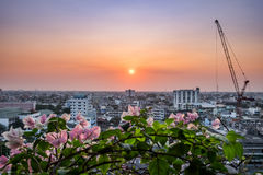 Landscape bangkok building and constructure Stock Image