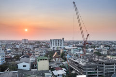 Landscape bangkok building and constructure Stock Photo