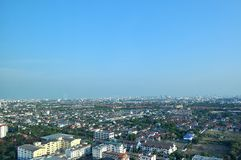 Landscape of Bangkok. Chaengwattana Nonthaburi province Royalty Free Stock Photography