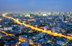 Landscape Bangkok city night view Royalty Free Stock Image