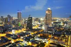 Landscape Bangkok city night view stock image