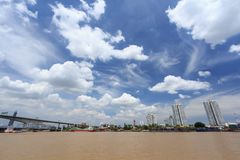 landscape of Bangkok city with river Stock Image