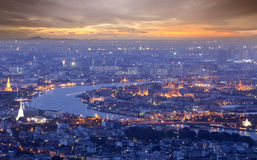 Landscape of Bangkok and the river Stock Image