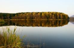 Landscape on the bank of lake. Autumn landscape on the bank of lake baikal Royalty Free Stock Photography
