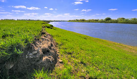 Landscape on the banks of the river Royalty Free Stock Photography