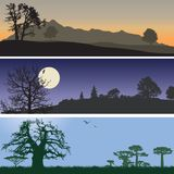 Landscape banners Stock Photography