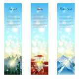 Landscape banners Stock Image