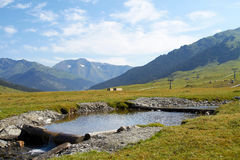 Landscape in Baqueira Beret Royalty Free Stock Photography
