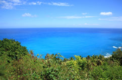 Landscape barahona. Landscape or seascape of barahona, view of sea and part of montain Royalty Free Stock Images