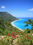 Landscape barahona. Landscape or seascape of barahona, view of sea and part of montain Royalty Free Stock Photos